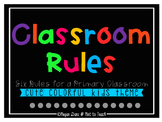 Classroom Rules Mini Posters - Colorful Kids