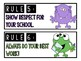 Classroom Rules - Monster Theme