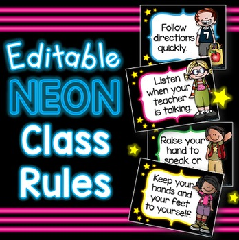 Classroom Rules (Neon)