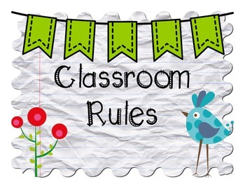 Classroom Rules: Notebook Paper and Birds