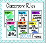 Classroom Rules {Ocean Brights Version}
