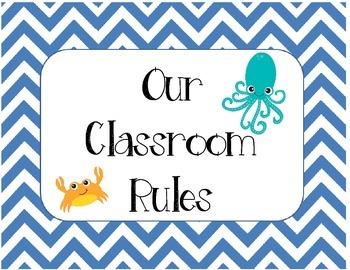 Classroom Rules - Ocean Theme