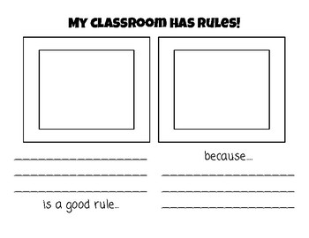 Classroom Rules Opinion Writing