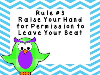 Classroom Rules Owl Set