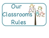 Classroom Rules- Owl Theme