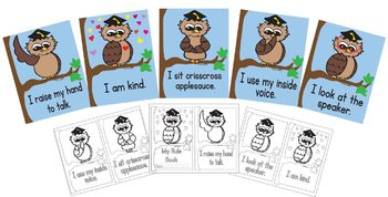 Classroom Rules Owl Theme with Student Book