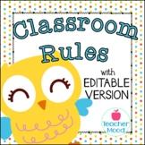 Classroom Rules {Owl Theme} Positive Behavior - Whole Brain