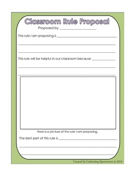 Classroom Rules Pack: A Toolkit for Creating Child-Centered Rules