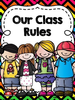 Classroom Rules Pack- Neon Chevron
