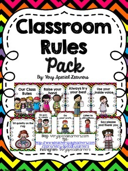 Classroom Rules Pack- Neon Chevron