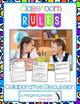 Classroom Rules & The Brain close reading and collaborative discussion activity