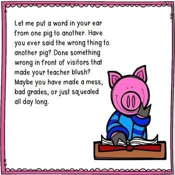 Classroom Management Pig Theme