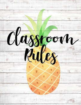 Classroom Rules ~ Pineapple Edition