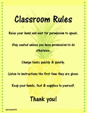 Pineapple Class Rules Posters