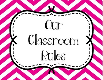 Classroom Rules - Pink and Yellow Chevron