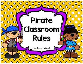 Classroom Rules {Pirate}