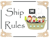 Classroom Rules (Pirate Theme)