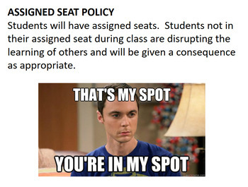 Classroom Rules, Policies and Procedures