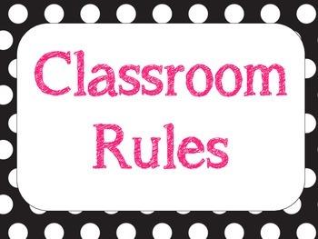 Classroom Rules - Polka Dot
