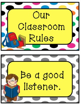 Classroom Rules (Polka Dot Theme)