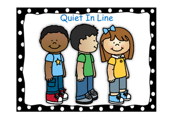 Classroom Rules-Polka Dot Theme (Black)