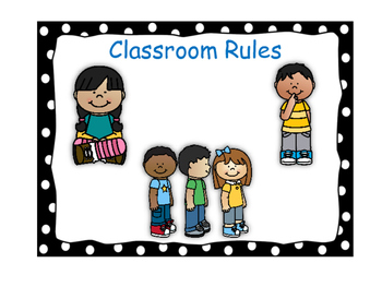 Classroom Rules-Polka Dot Theme (Black)