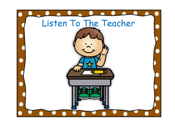 Classroom Rules-Polka Dot Theme (Brown)