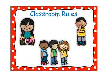 Classroom Rules-Polka Dot Theme (Red)