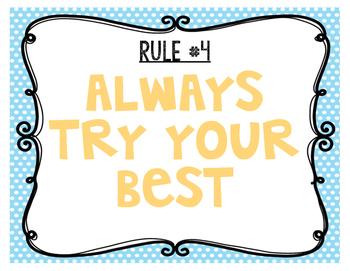 Classroom Rules: Polka Dots & Chevron