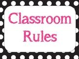 Classroom Rules Polka dot
