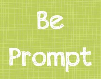 Classroom Rules-Positive Behavior Reminders