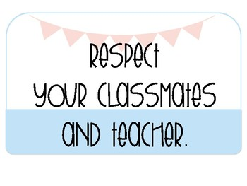 Classroom Rules: Positive Learning Environment {Banners & Pastels}