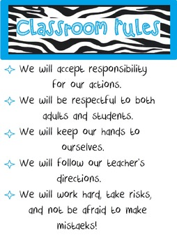Classroom Rules Poster...