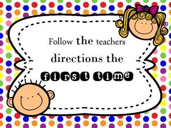 [FREEBIE] Polka Dot Classroom Rules [Posters]