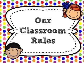 {FREEBIE} Polka Dot Classroom Rules [Posters]