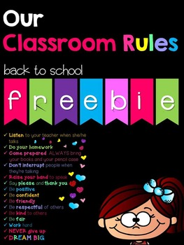 Classroom Rules Poster 2015-16