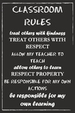 Classroom Rules Poster (Black)