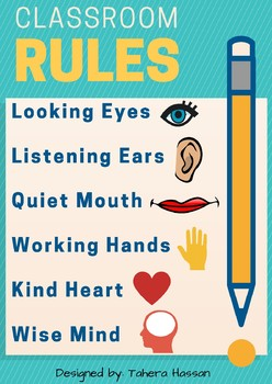 Classroom Rules Poster 1 ~ Freebie