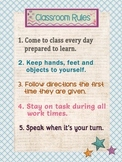 Poster Classroom Rules - English and Spanish