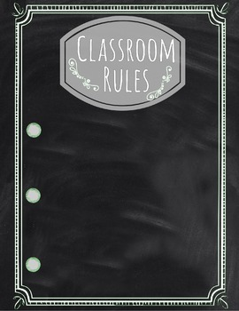 Classroom Rules Poster: Gray and Blank