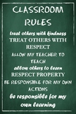 Classroom Rules Poster (Green)