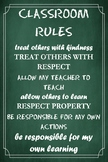 Classroom Rules Poster (Green 2)