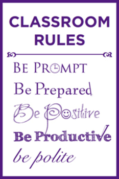 Classroom Rules Poster Multi-Colored