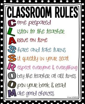 Classroom Rules Poster Set