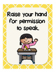 Classroom Rules Poster Set