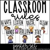 Classroom Rules Poster Set - Black Font