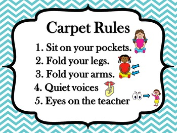 Classroom Rules Poster Set - Chevron