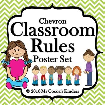 Classroom Rules Poster Set - Chevron
