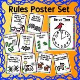 Classroom Rules Poster Set - Classroom Decor