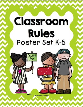 Classroom Rules Poster Set K-5